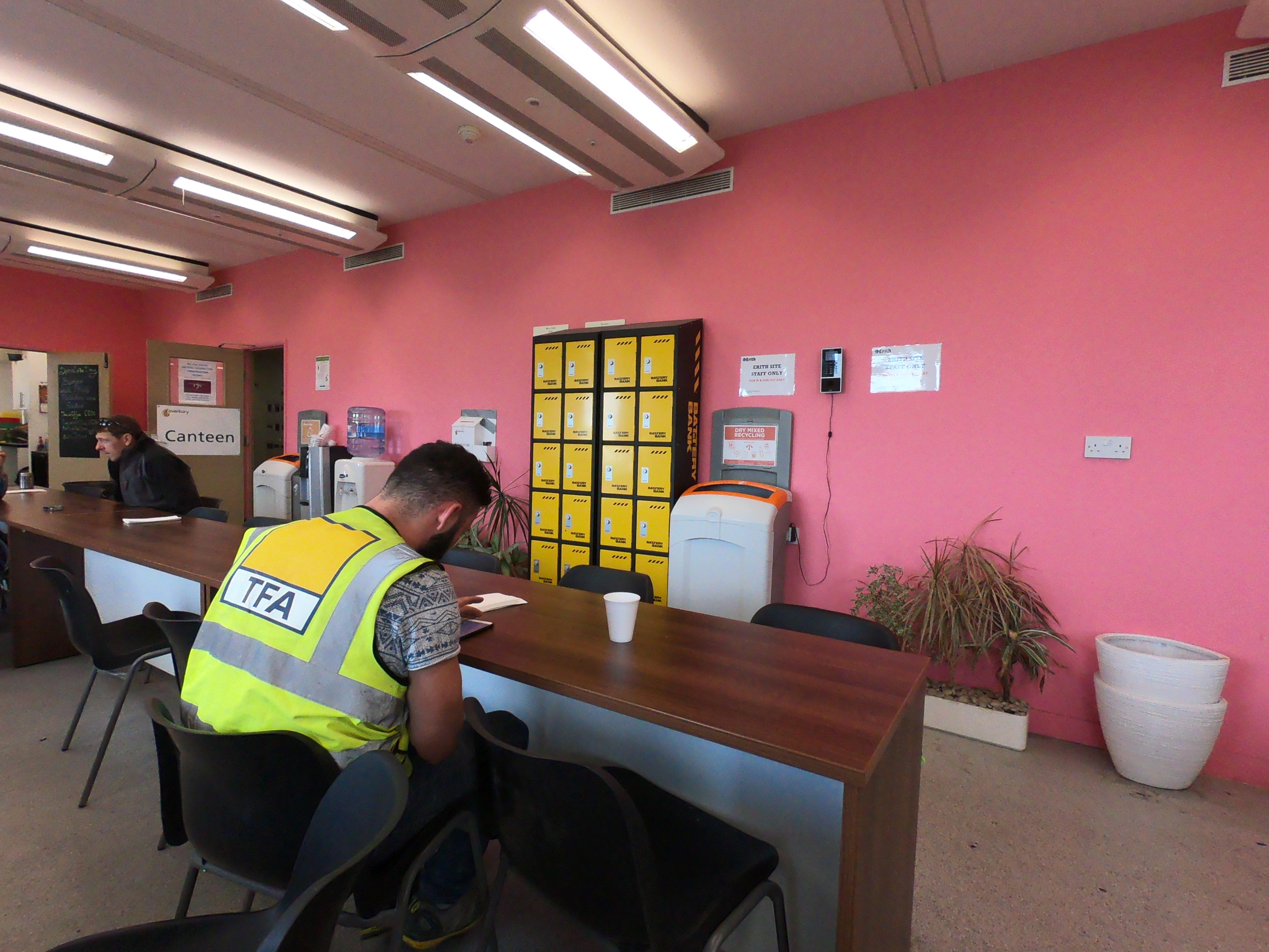 preventing falls pink walls overbury cool canteen pink